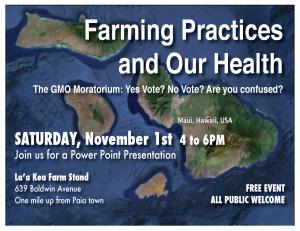 Farming Practices - 1 Nov - 1up